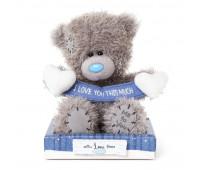 Ведмедик Тедді MTY з сердечками і стрічкою з написом I Love You This Much