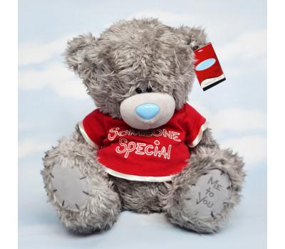 Мишка Тедди в красной футболке Someone special