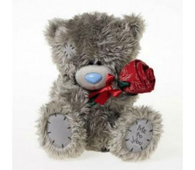 Мишка Тедди с красной розой