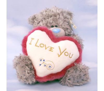Тедди с пушистым сердцем I Love You