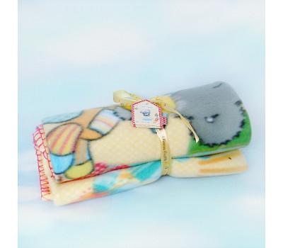 Детский плед с мишкой Тедди MeToYou