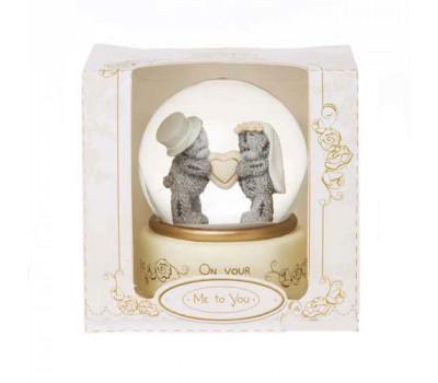Водный шар с мишкой Тедди на свадьбу