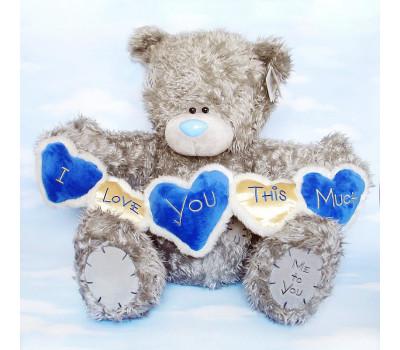 Мишка Тедди с гирляндой из сердец