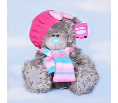 Тедди в розовом беретике и шарфе