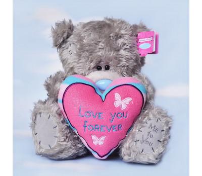Мишка Тедди с сердцем Love You Forever