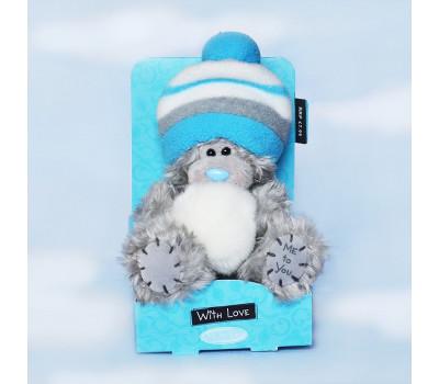Мишка Тедди в шапке со снежком