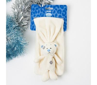 Шарф MeToYou с беленьким мишкой Тедди