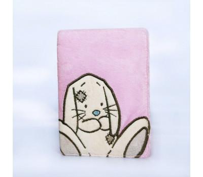 Плюшевая обложка для паспорта с кроликом