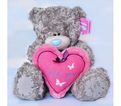 Мишка Тедди с сердцем Love You
