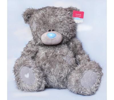 Новогодний Тедди с сердечком на лапке
