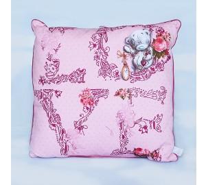 Подушка з ведмедиком Тедді рожева MTY