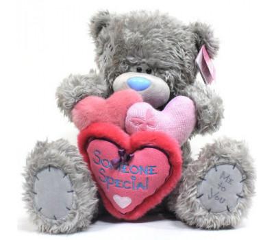Мишка держит 3 сердечка Someone Special