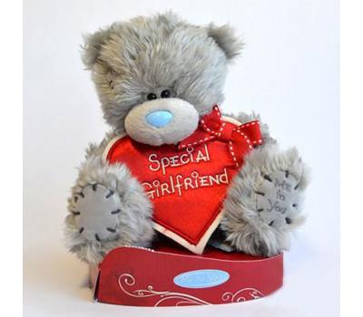 Мишка Тедди с сердцем Special Girlfriend