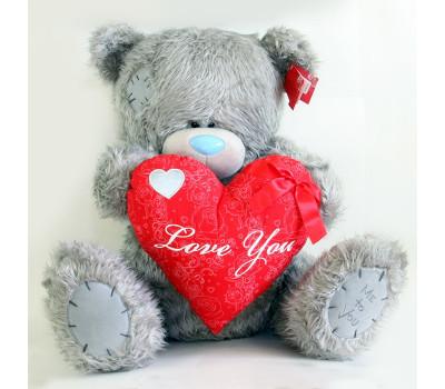 Мишка MTY - с красным сердцем Love you
