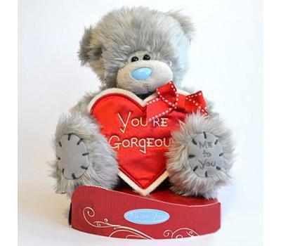 Мишка Тедди с сердцем You're Gorgeous