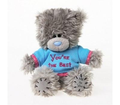 Мишка MTY Тедди в голубой футболку You're the Best