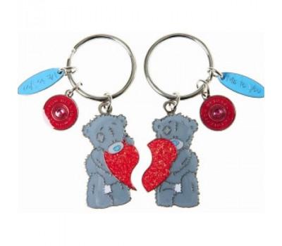 Брелок с мишками MTY для ключей двойной - мишки с сердцем