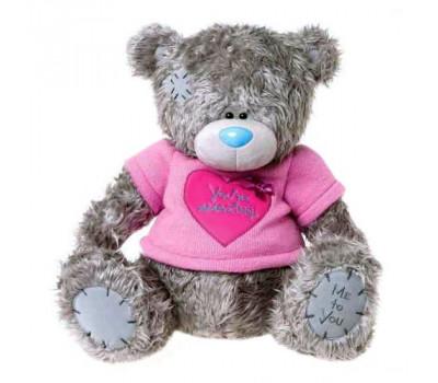 Мишка Тедди MTY в розовой футболке с сердцем