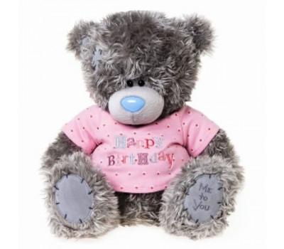 Мишка Тедди MTY в футболке HAPPY BIRTHDAY