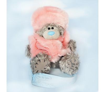 Мишка Тедди в розовой шубке