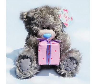 Медвежонок Тедди с подарком ко дню рождения