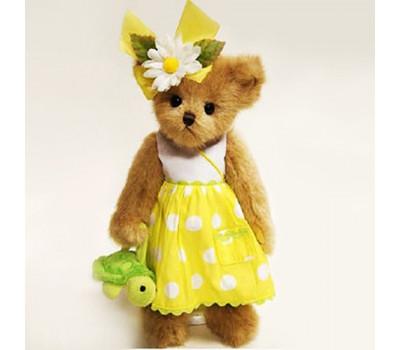 Мишка Бэрингтон в желтом платье с черепашкой