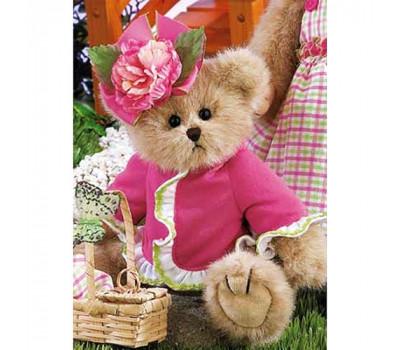 Мишка Bearington в розовой кофте со шляпкой-розой
