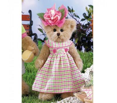 Мишка Bearington - девочка в розовом платье с розой