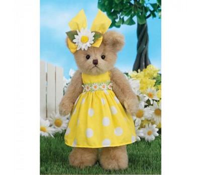Мишка Беррингтон в желтом платьице с ромашками