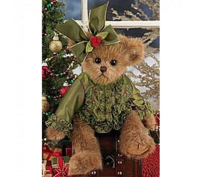 Мишка Bearington в зеленой атласной блузке