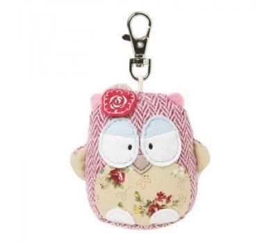 Брелок OWL на сумку - Совенок с цветочками