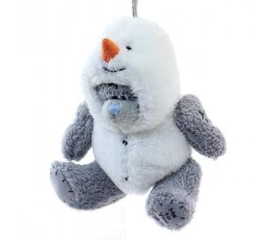 Ёлочное украшение- Мишка в костюме снеговика
