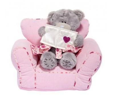 Мишка Тедди MTY 10 см на розовом диванчике