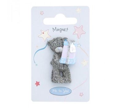 Магнит MTY мишка Тедди держит подарок  - Happy Birthday