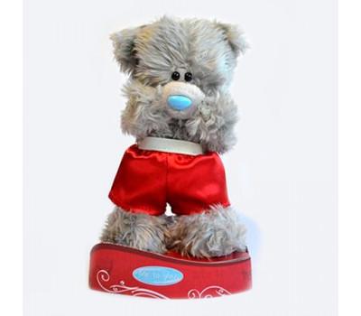 Мишка  MTY  стоит в красных шортах