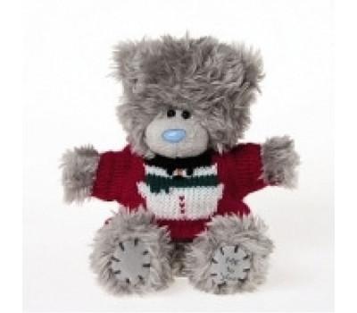Мишка Тедди MTY  в свитере со снеговиком
