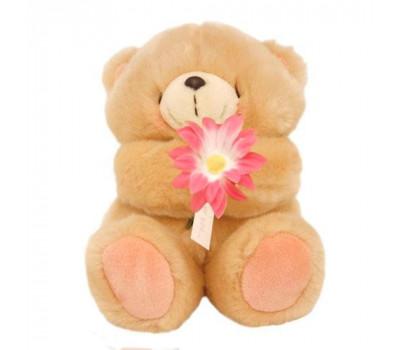Медвежонок Холмарк с розовым цветком