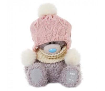 Мишка Тедди MTY в шапке с помпончиками
