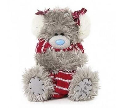 Мишка Тедди MTY  в шарфе и наушниках