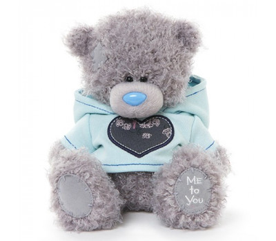 Мишка Тедди MTY  в голубой толстовке