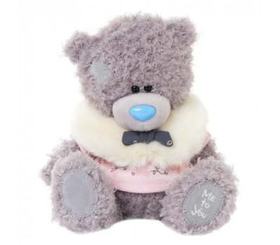 Мишка Тедди MTY в розовом пальто с манишкой