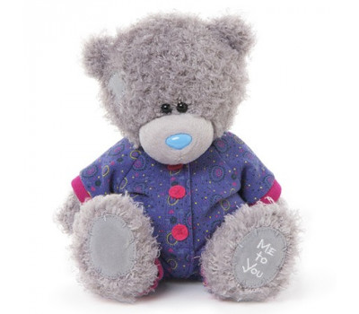 Мишка Тедди MTY  в фиолетовом комбинезоне