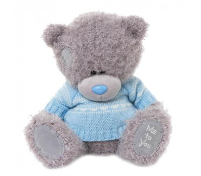 Мишка Тедди MTY  в голубом джемпере