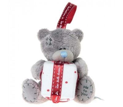 Плюшевый мишка Тедди MTY с подарком на ёлку