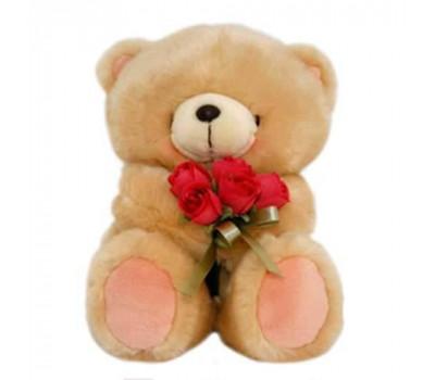 Мишка Forever Friends  держит букет роз