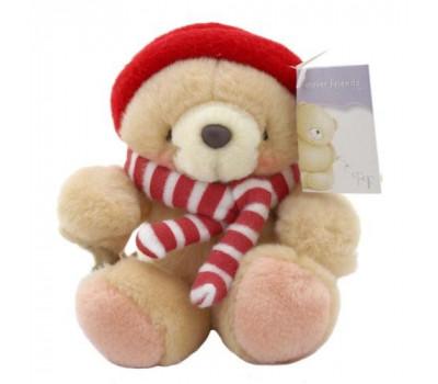 Мишка Forever Friends в полосатом шарфе и красном берете