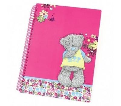Записная тетрадь-книжка красная с мишкой Тедди