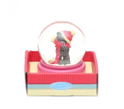 Водный шар MTY - мишка в шапочке и шарфике