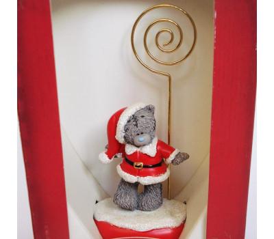 Держатель для фото - мишка Тедди в костюме Санты