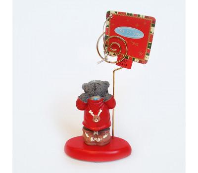 Держатель для фото - мишка Тедди в свитере и ботиночках